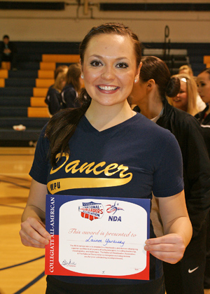 Lainee Yarkosky was one of seven dancers to receive All-America status