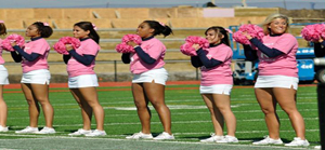 WPU cheerleaders sold shirts and wristbands at the football game on October 20