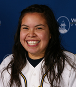 Diana Cassaro had two of her team's five hits