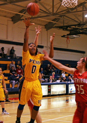 Orielle Thomas concluded her William Penn career with another double-double of ten points and 18 rebounds