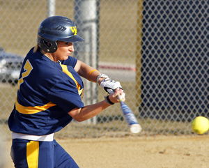 Bri Zerley had two hits in the second game