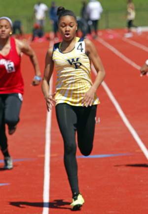 Jazmine Epps scored points in four individual events