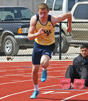 Alex Edwards won two MCC Track Athlete of the Year awards