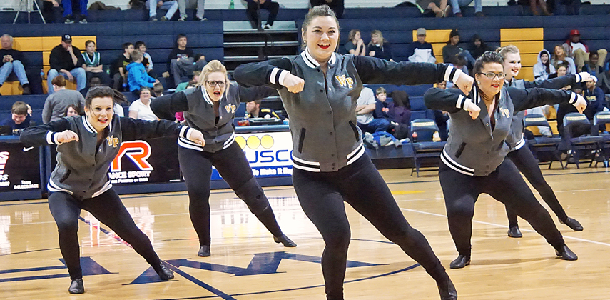 WPU's dancer were second with 97.97 points