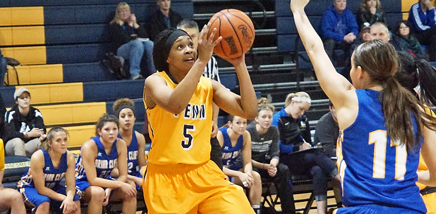 Kadejah Young tallied 15 points with six assists in her final game as a Statesmen cager