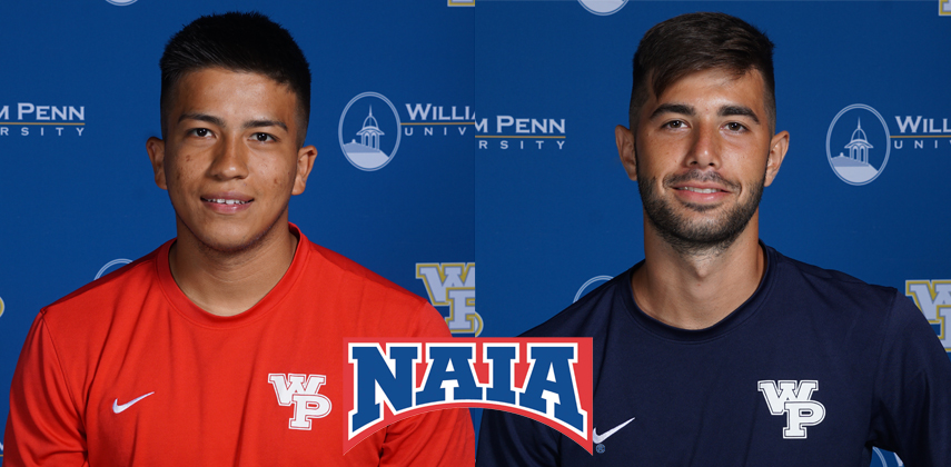 Emannuel Esparza and Santiago Goytia Zamora both picked up their first academic awards