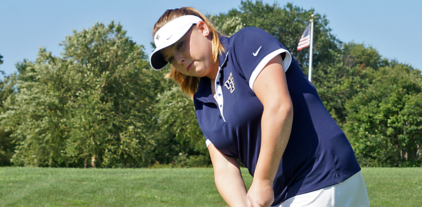 Brittany Evans shot a team-best 76
