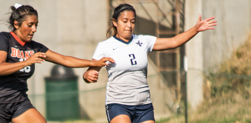 Kathy Lopez sent the pass into Raunice Butler for the winning goal